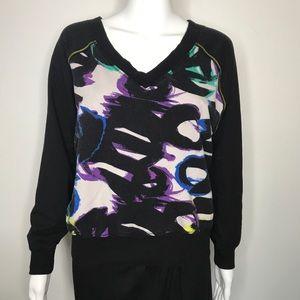 Bebe 80s Abstract Twisted Back Sweatshirt Small